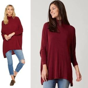 WE THE FREE - Turtleneck Tunic Top Red, Large